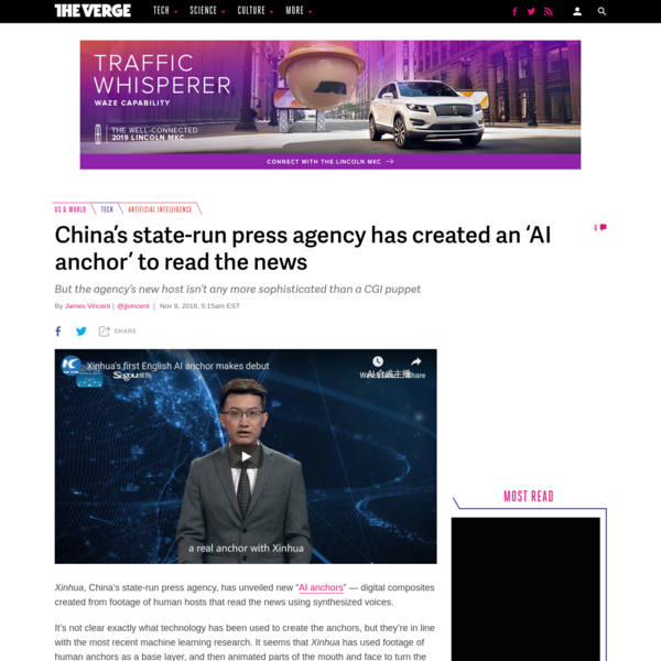 China's state-run press agency has created an 'AI anchor' to read the news