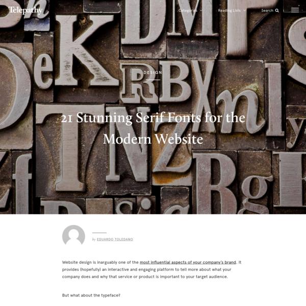 21 Stunning Serif Fonts for the Modern Website
