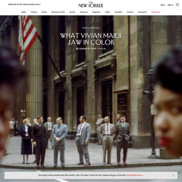 ✌ https://www.newyorker.com/culture/photo-booth/what-vivian-maier-saw-in-color