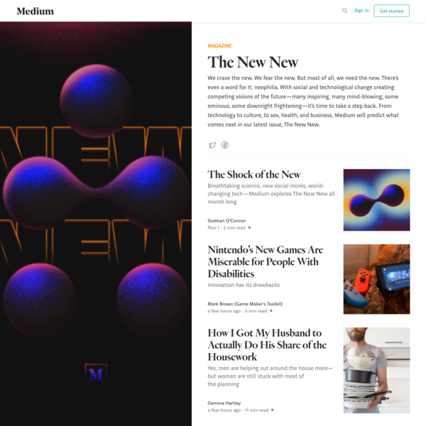 We crave the new. We fear the new. But most of all, we need the new. There's even a word for it: neophilia. With social and technological change creating competing visions of the future-many inspiring, many mind-blowing, some ominous, some downright frightening-it's time to take a step back.