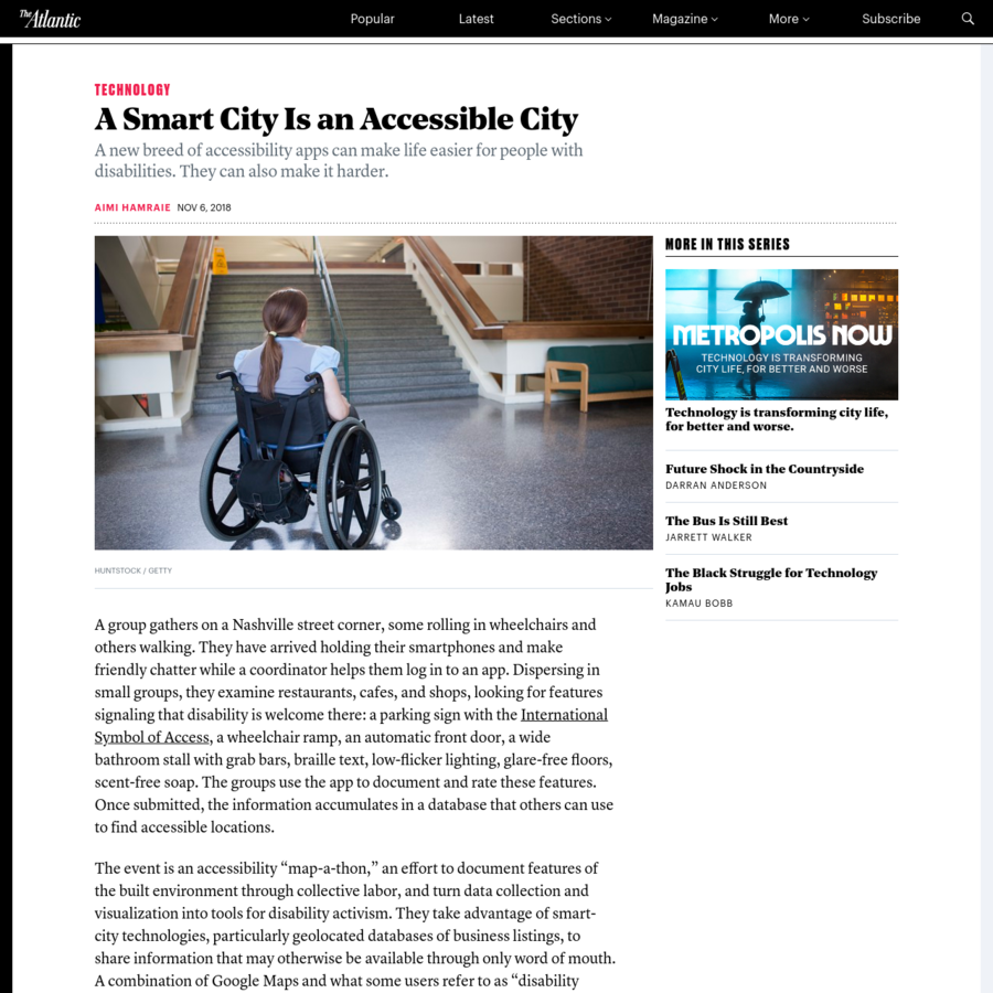 A new breed of accessibility apps can make life easier for people with disabilities. They can also make it harder. A group gathers on a Nashville street corner, some rolling in wheelchairs and others walking. They have arrived holding their smartphones and make friendly chatter while a coordinator helps them log in to an app.