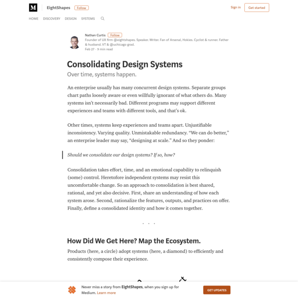 Consolidating Design Systems - EightShapes - Medium
