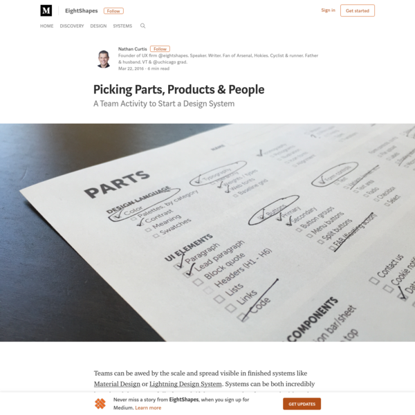 Picking Parts, Products & People - EightShapes - Medium