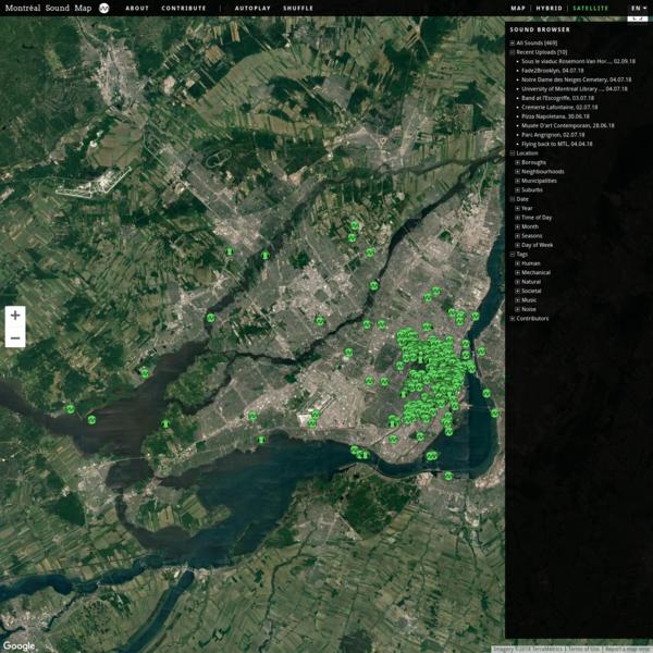 Montréal Sound Map