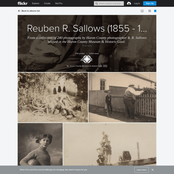 Reuben R. Sallows (1855 - 1937), Photographer