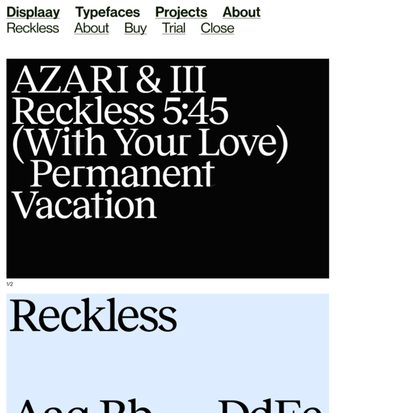 Reckless - Displaay Type Foundry