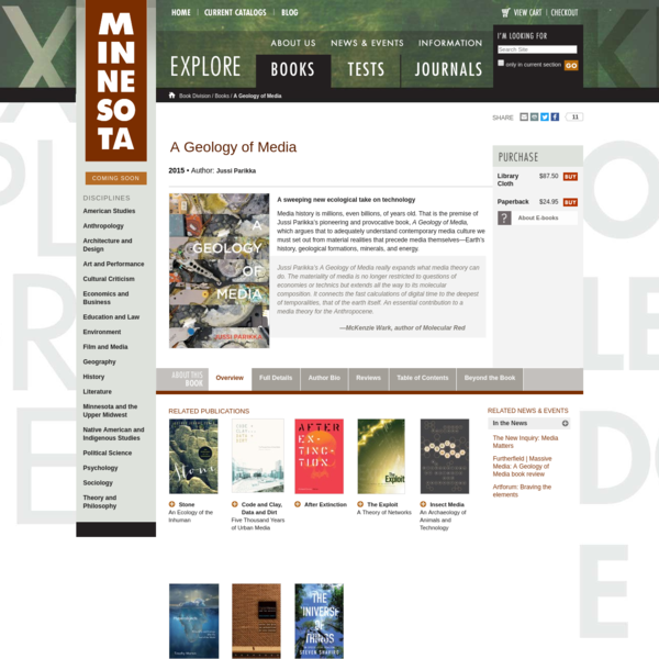 Media history is millions, even billions, of years old. That is the premise of this pioneering and provocative book, which argues that to adequately understand contemporary media culture we must set out from material realities that precede media themselves-Earth's history, geological formations, minerals, and energy.
