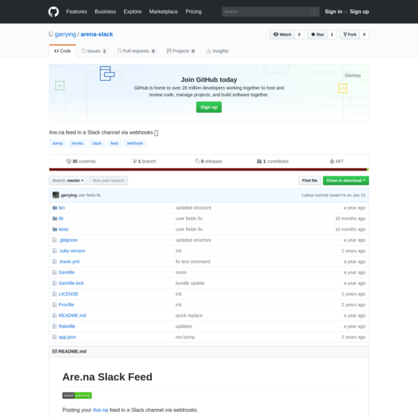 Are.na feed in a Slack channel via webhooks 💬. Contribute to garrying/arena-slack development by creating an account on GitHub.
