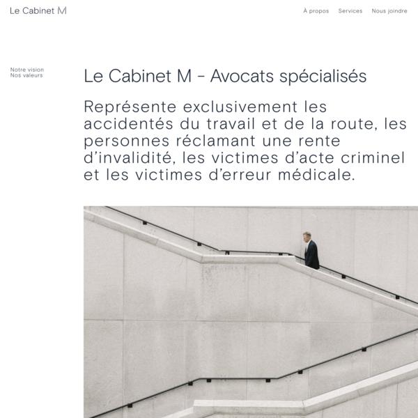 Avocats spécialisés - Soutien juridique aux accidentés - Le cabinet M
