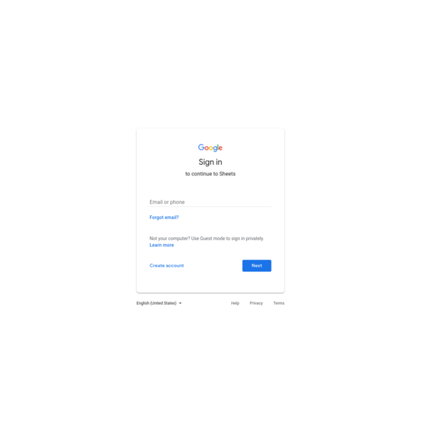 Google Sheets - create and edit spreadsheets online, for free.