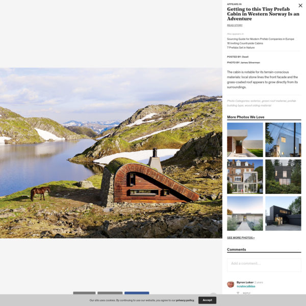Photo 1 of 1 in Getting to this Tiny Prefab Cabin in Western Norway...