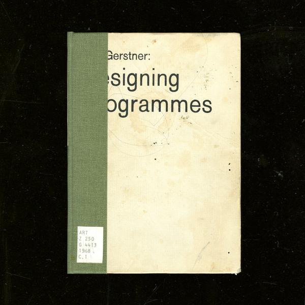 Designing Programmes — Karl Gerstner