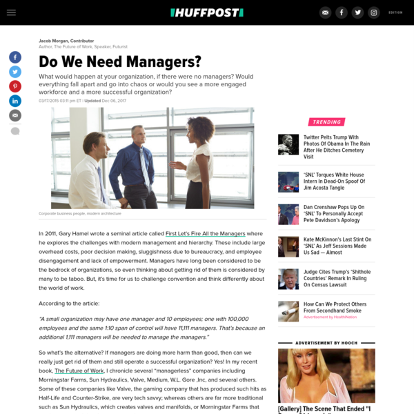 Do We Need Managers?