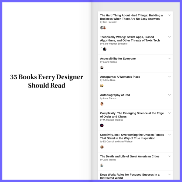 Some of industry's best designers answer the question 'What book should designers read and why?'