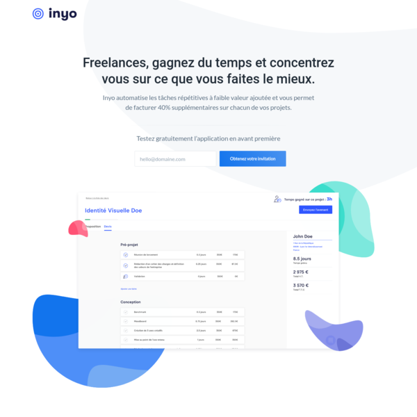Inyo: Smart Project Manager for Freelancer