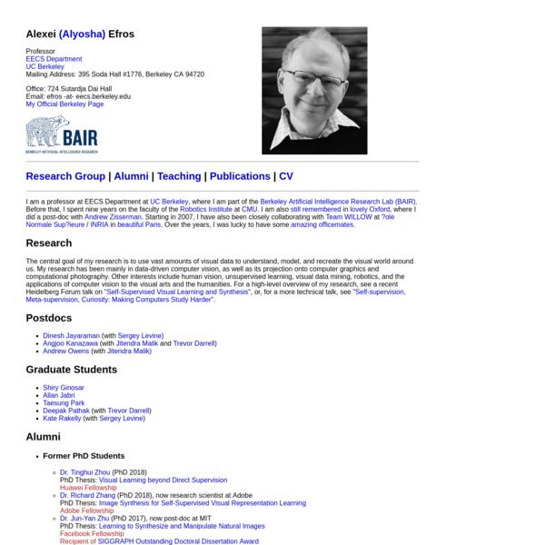Alexei A. Efros homepage