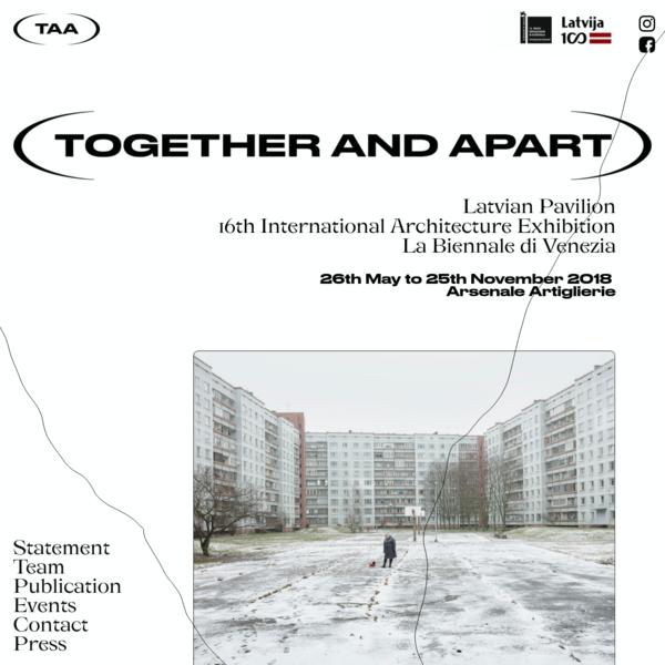 Latvian Pavilion, 16th International Architecture Exhibition La Biennale di Venezia 26th May to 25th November 2018, Arsenale Artiglierie