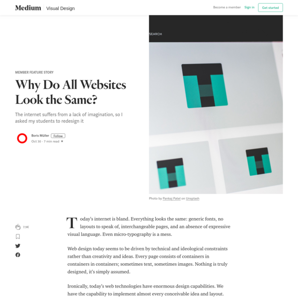 Why Do All Websites Look the Same? - Member Feature Stories - Medium