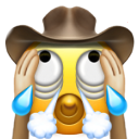 hear-no-evil_crying_face_with_cowboy_hat_and_rolling_eyes_and_rolling_eyes_and_rolling_eyes_and_open_mouths_and_steam_from_n...