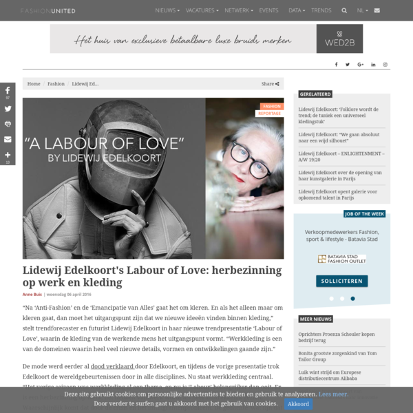 Lidewij Edelkoort's Labour of Love: herbezinning op werk en kleding