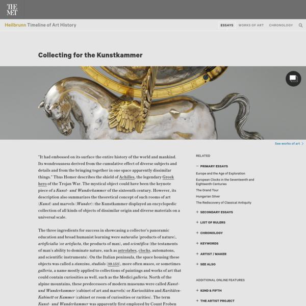 Collecting for the Kunstkammer   Essay   Heilbrunn Timeline of Art History   The Metropolitan Museum of Art