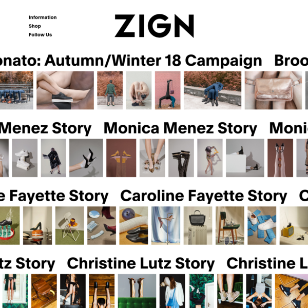 ZIGN is a modern and trend informed footwear and accessories brand, delivering clean and urban designs to the fashion-lead individual. Born in Berlin in 2010, ZIGN stands for quality, affordability and authenticity.