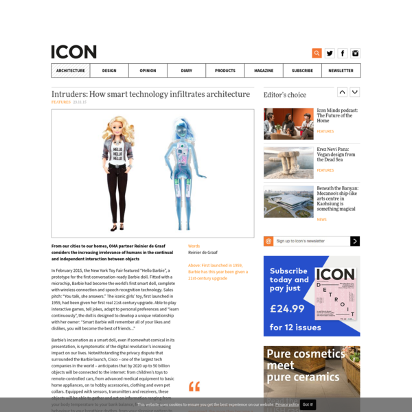 Intruders: How smart technology infiltrates architecture - Icon Magazine