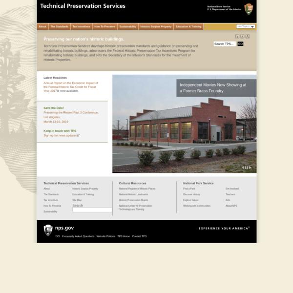 Technical Preservation Services, National Park Service