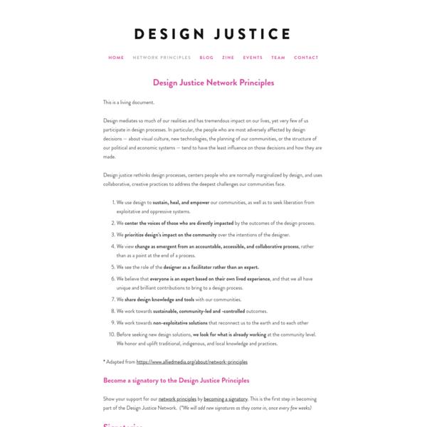 Design Justice Network Principles