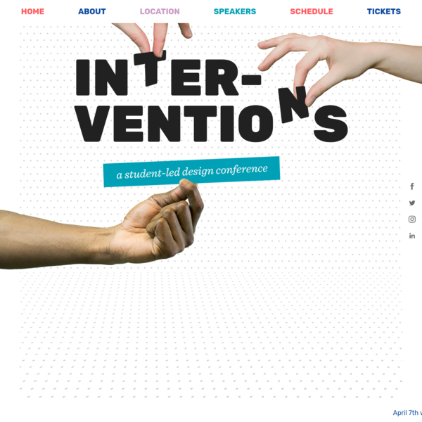 Interventions: A Student-Led Design Conference