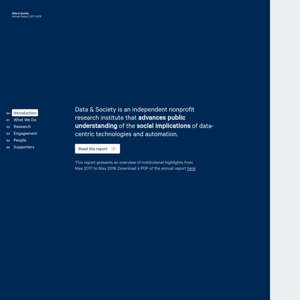 Data & Society 2017-18 Annual Report