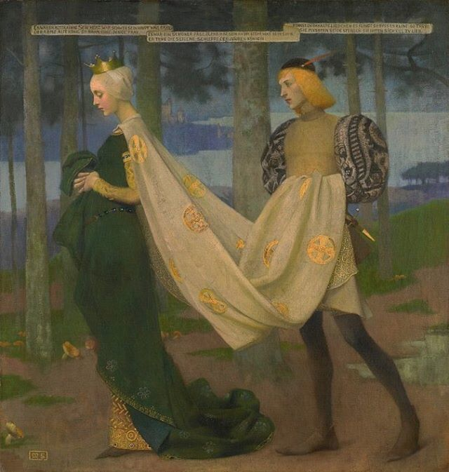 The Queen and the Page - Marianne Stokes (1896)