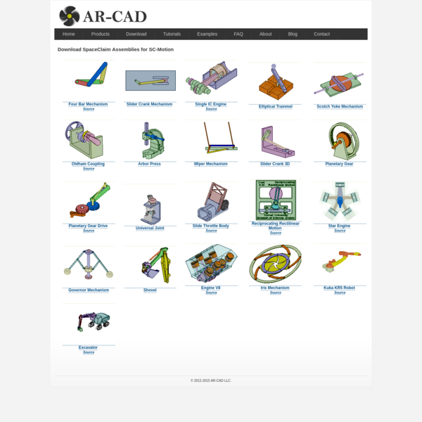 AR-CAD : SC-Motion : Motion and Dynamic Simulation Addin for SpaceClaim