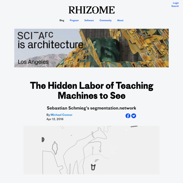 The Hidden Labor of Teaching Machines to See