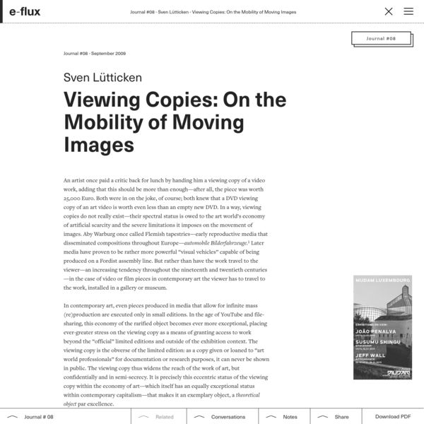 Viewing Copies: On the Mobility of Moving Images