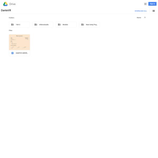 DanteVR - Google Drive