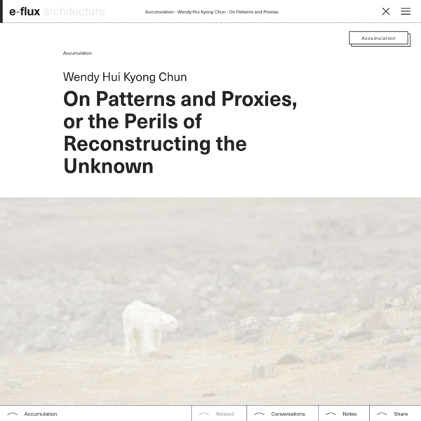 On Patterns and Proxies - e-flux Architecture - e-flux