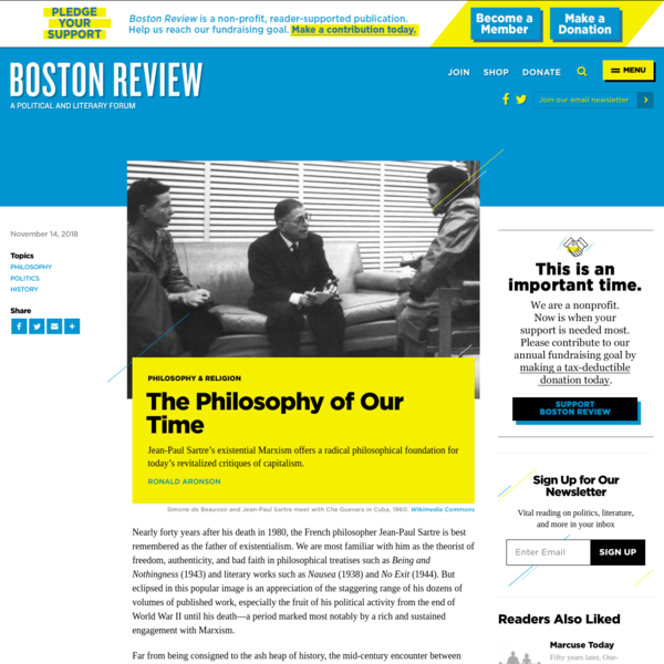 The Philosophy of Our Time | Boston Review