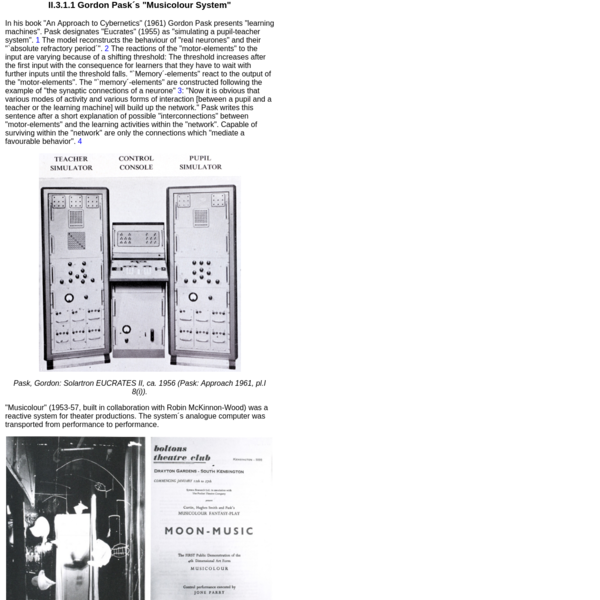 IASLonline NetArt: History of Computer Art II.3 Cybernetic Sculptures