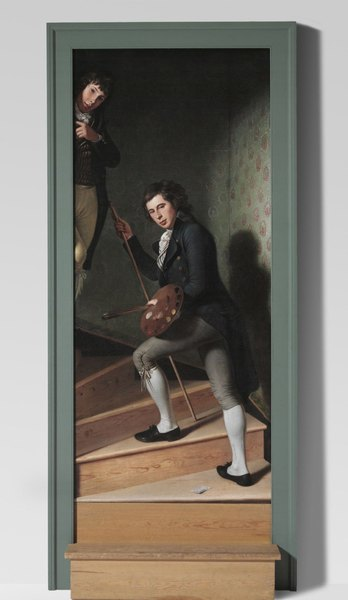 The Staircase Group (Portrait of Raphaelle Peale and Titian Ramsay Peale I), 1795. Charles Willson Peale, American, 1741 – 1827