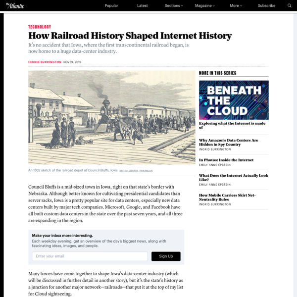 The histories, scoundrels, and scandals of the transcontinental railroad can't be seen at the Google's two data centers in Council Bluffs, Iowa. Of the two data centers, the second one (currently under construction) is a bit more spectacular.