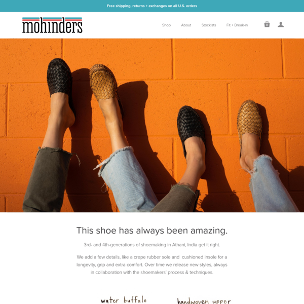 Men's and women's handmade and ethically-made, woven vegetable-tanned leather shoes. Free shipping, returns, and exchanges on all purchases.
