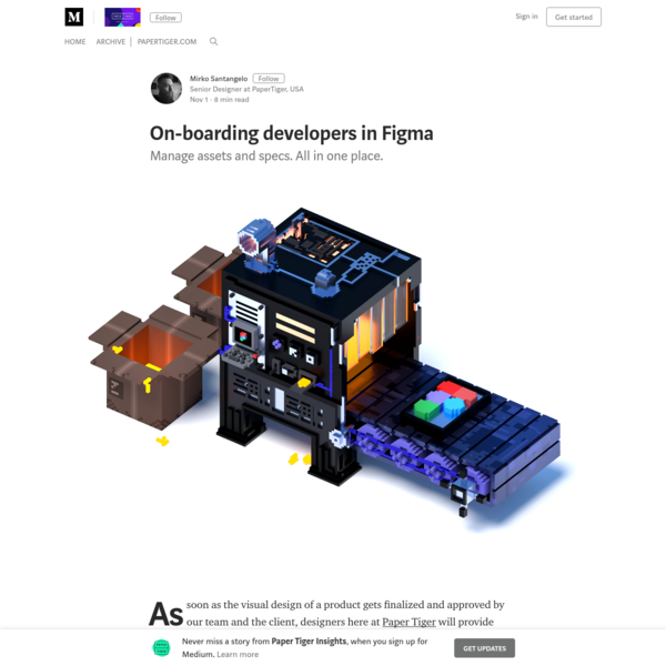 On-boarding developers in Figma - Paper Tiger Insights