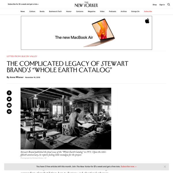 """The Complicated Legacy of Stewart Brand's """"Whole Earth Catalog""""   The New Yorker"""