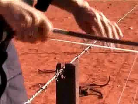 Jon Rose plays barbed wire fence