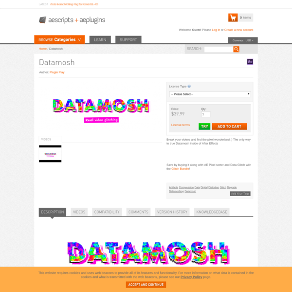 Datamosh - aescripts + aeplugins - aescripts.com