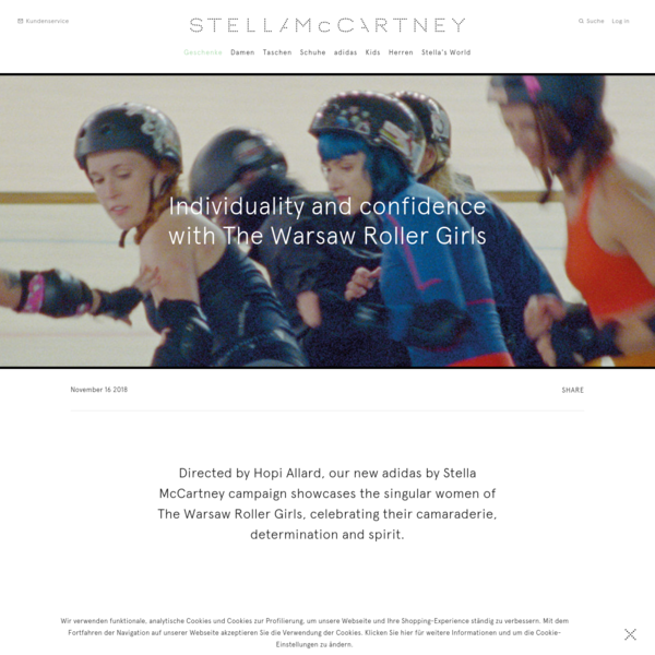 Directed by Hopi Allard, our new adidas by Stella McCartney campaign showcases the singular women of The Warsaw Roller Girls, celebrating their camaraderie, determination and spirit. Hopi is a London-based director and cinematographer recognised for his atmospheric films centred on powerful personal narratives. Read more about him in our Q and A below.