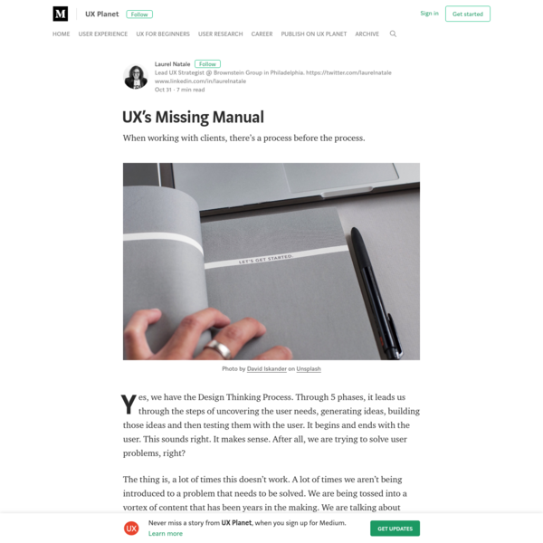 UX's Missing Manual - UX Planet