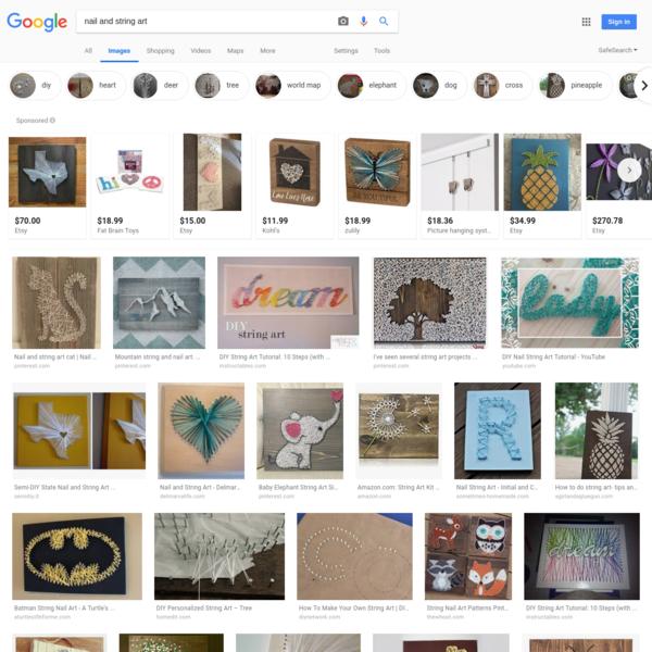 nail and string art - Google Search