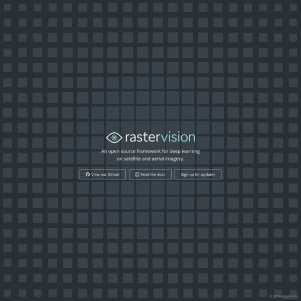 Raster Vision is an open source framework developed by Azavea and created for engineers to quickly and repeatably create deep learning workflows for analyzing satellite, aerial, and other large imagery.
